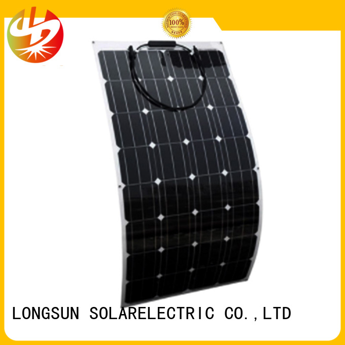 Longsun semi semi flexible solar panel overseas market for boats