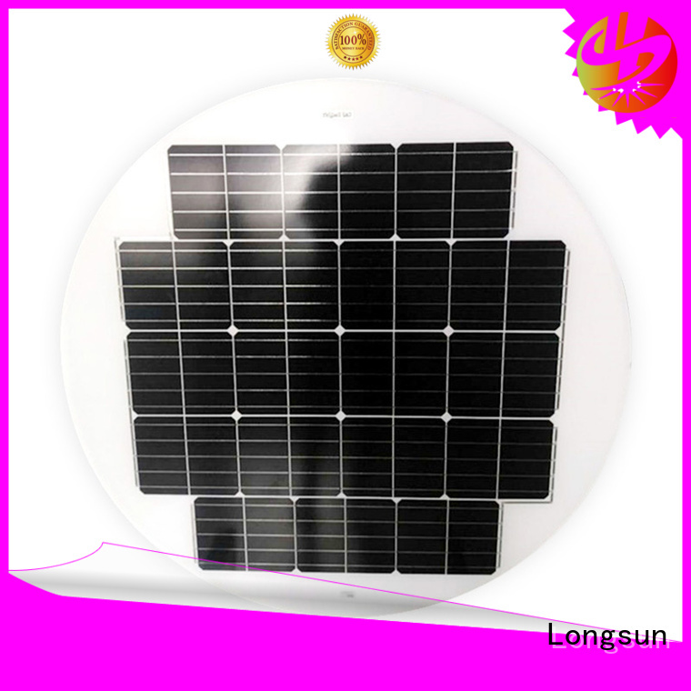 long life span circle solar panel 80w producer for Solar lights