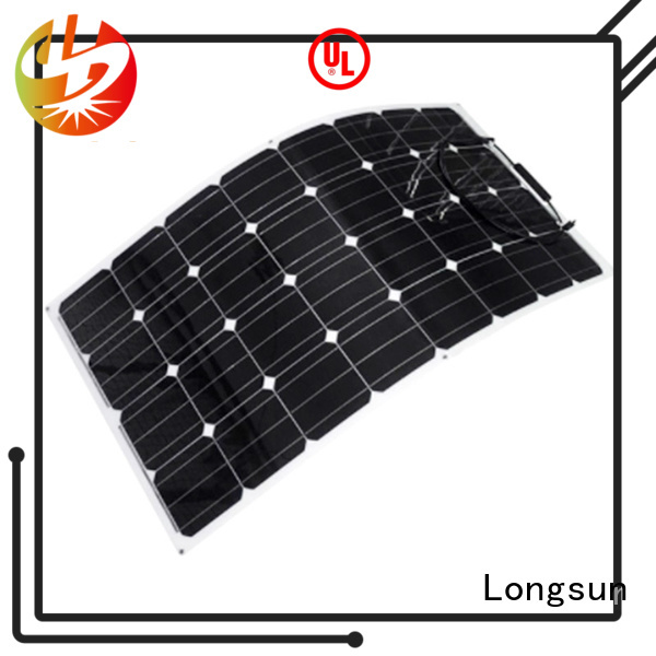 Longsun semi semi-flexible solar panel dropshipping for roof of rv