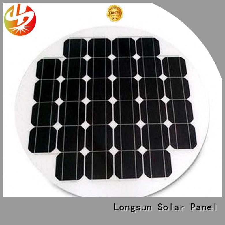 Longsun street round solar panels supplier for Solar lights