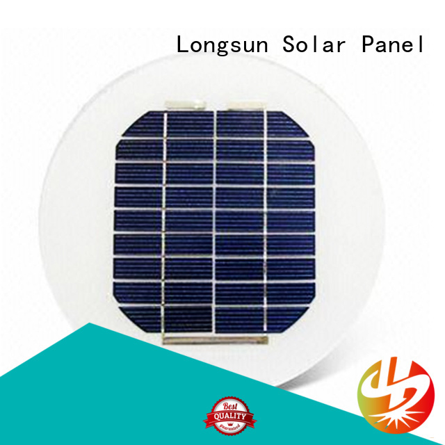 Longsun long life span circle solar panel to decorative for other Solar applications