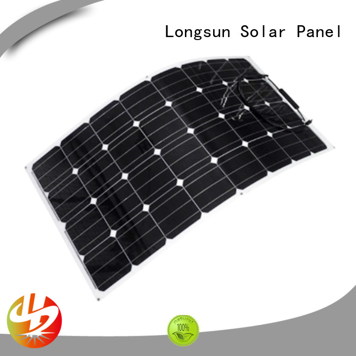 Longsun long-life semi flexible solar panel factory price for yachts