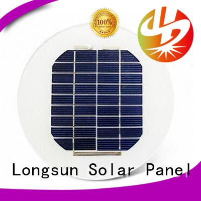 Longsun durable round solar panels wholesale for Solar lights