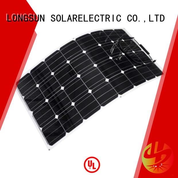 Longsun 60w semi flexible solar panel overseas market for roof of rv