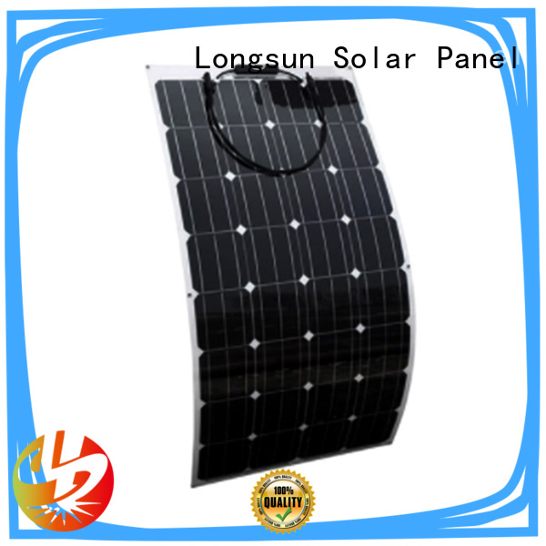 Longsun solar semi-flexible solar panel vendor for roof of rv