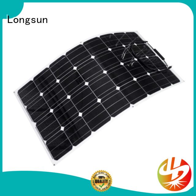 Longsun competitive price semi-flexible solar panel factory price for boats