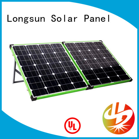 Longsun affordable price folding solar panels overseas market for recreational activitie
