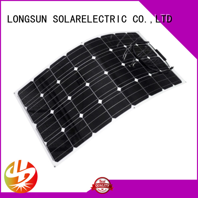 Longsun widely used semi flexible solar panel dropshipping for roof of rv