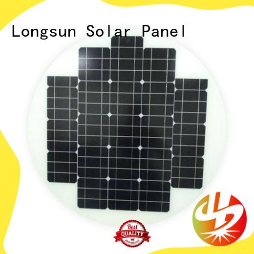 Longsun circle circle solar panel supplier for Solar lights