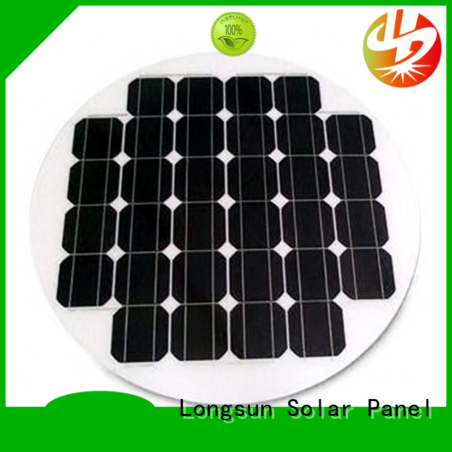 Longsun circle solar panel dropshipping for Solar lights