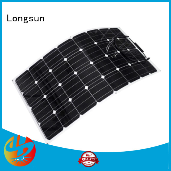 Longsun flexible semi-flexible solar panel marketing for yachts