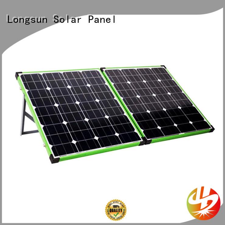 Longsun effeciency foldable solar panel overseas market for recreational activitie