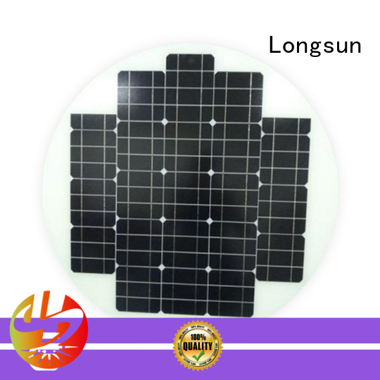 Longsun 60w round solar panels to decorative for other Solar applications