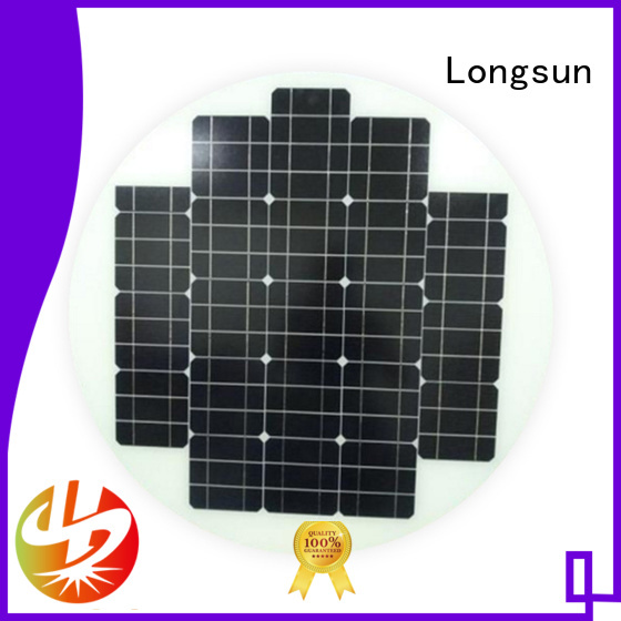 Longsun circle solar panel manufacturers wholesale for Solar lights