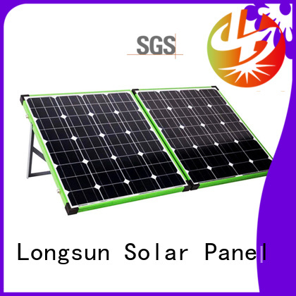 Longsun effeciency foldable solar panel overseas market for camping