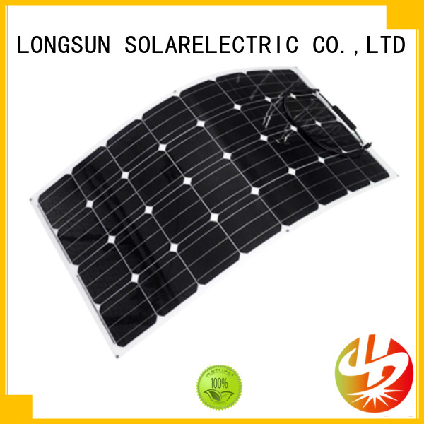 natural semi-flexible solar panel 60w wholesale for roof of rv