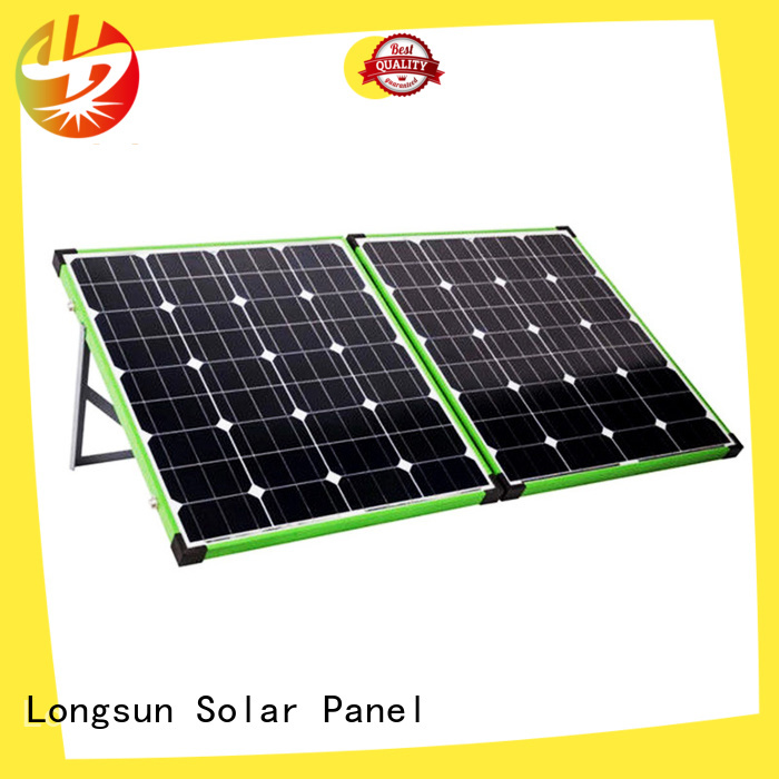 Longsun widely used solar panel manufacturers overseas market for camping