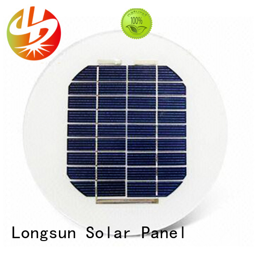 60w round solar panels factory price for Solar lights Longsun