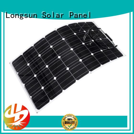 Longsun 120w semi flexible solar panel vendor for yachts
