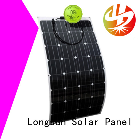Longsun long-life semi-flexible solar panel directly sale for yachts