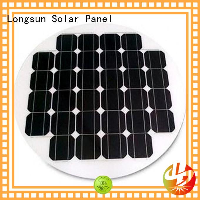 Longsun round solar cell panel supplier for other Solar applications