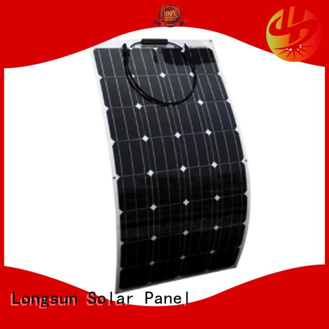Longsun flexible advanced solar panels overseas market for roof of rv