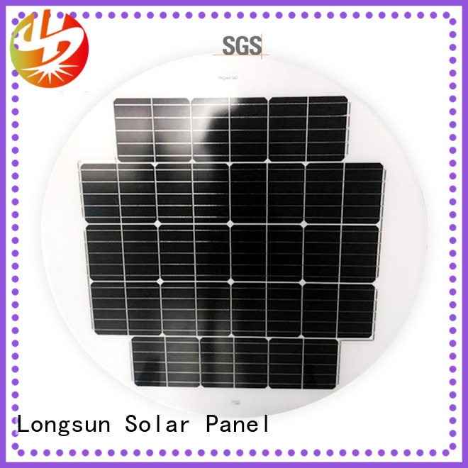 Longsun long life span round solar panels producer for Solar lights