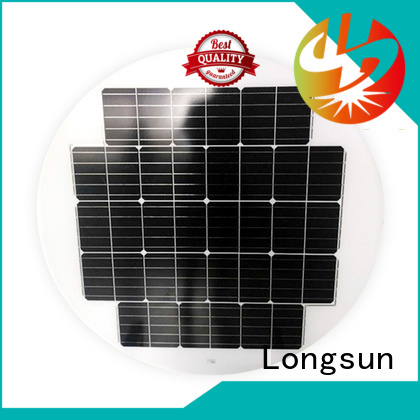 Longsun round solar cell panel to decorative for Solar lights
