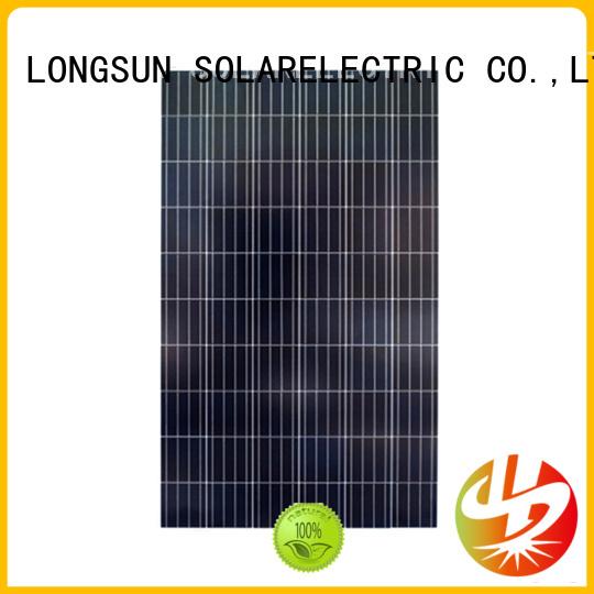 Longsun natural polycrystalline pv module supplier for solar power generation systems
