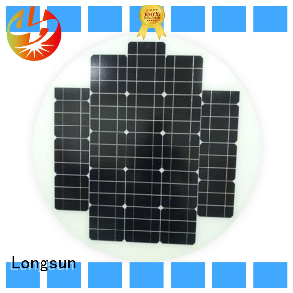 Longsun 80w circle solar panel to decorative for other Solar applications