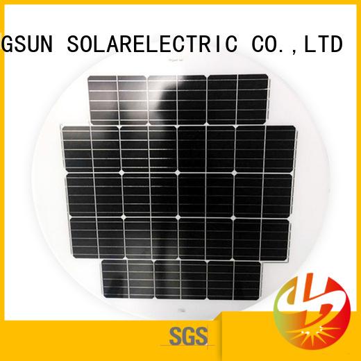 street round solar panels to decorative for Solar lights Longsun