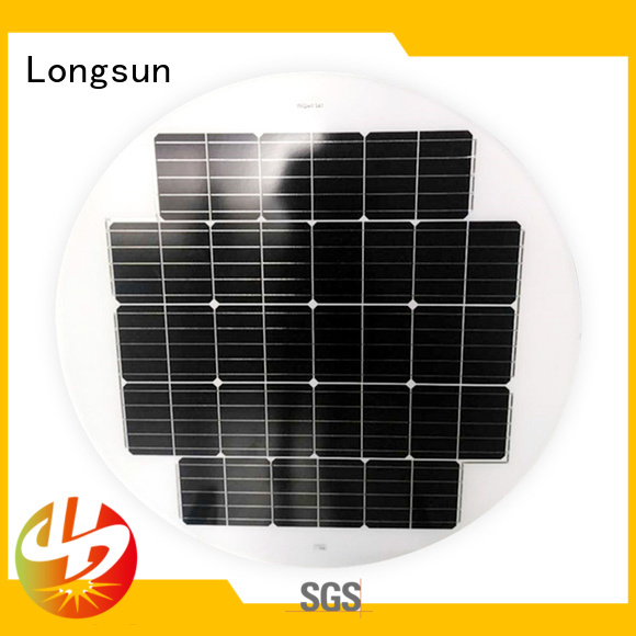 widely used circle solar panel 80w to decorative for Solar lights