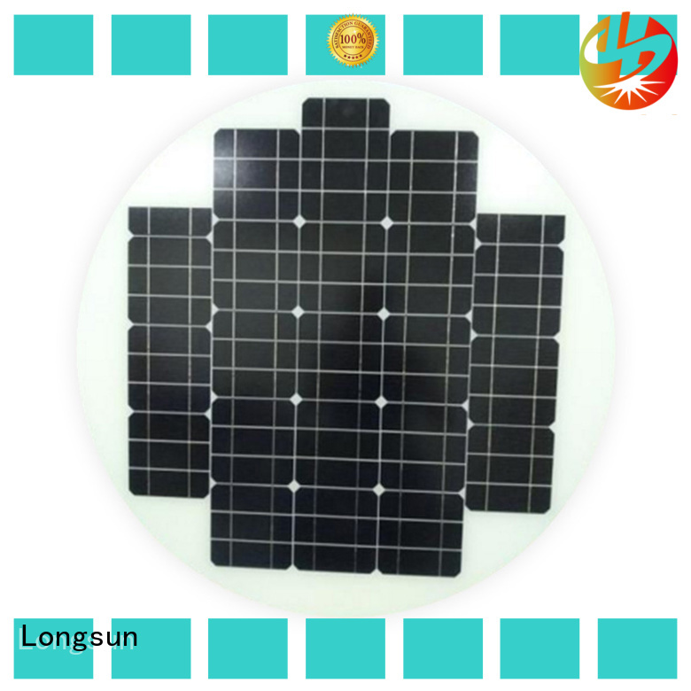 UV resistant circle solar panel lights customized for Solar lights