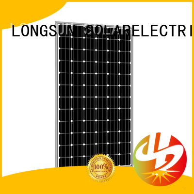 Longsun 285w best solar panel company overseas market for meteorological