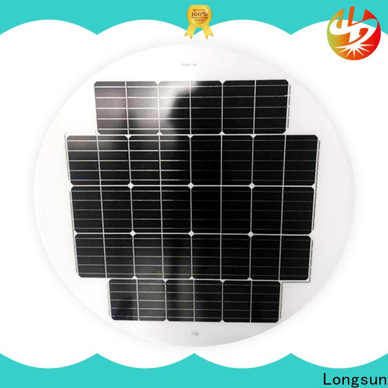 Longsun durable round solar panels supplier for Solar lights