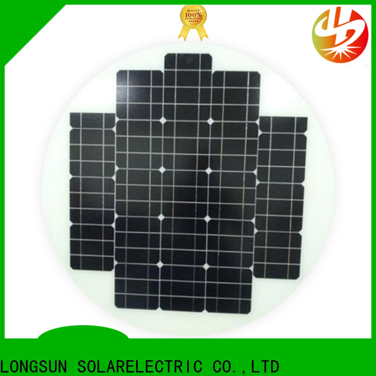 UV resistant round solar panels circle dropshipping for Solar lights