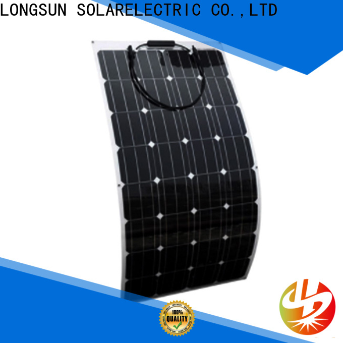 Longsun eco-friendly flexible solar panels overseas market for roof of rv