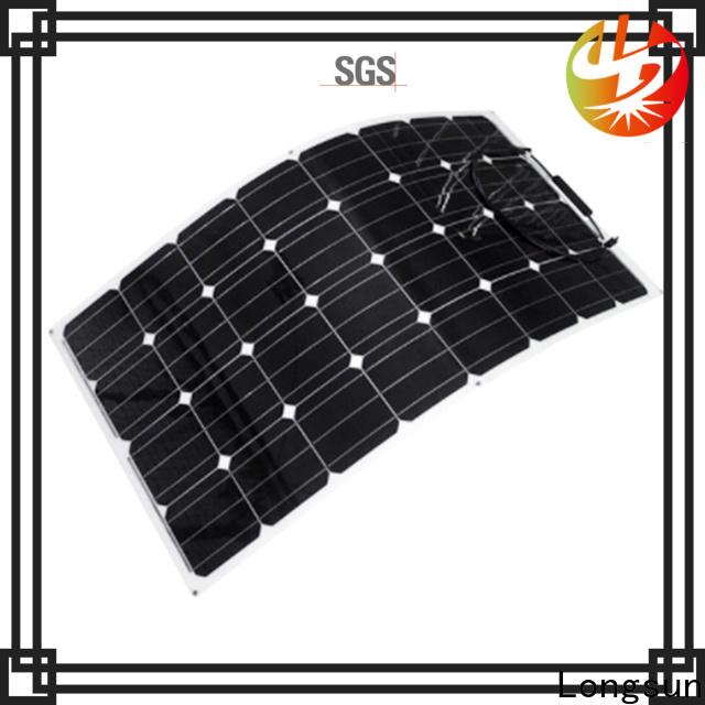 Longsun high-end semi flexible solar panel marketing for roof of rv