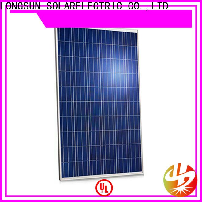Longsun competitive price highest rated solar panels vendor for traffic field