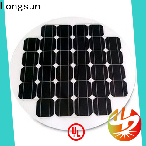 Longsun long life span circle solar panel factory price for Solar lights