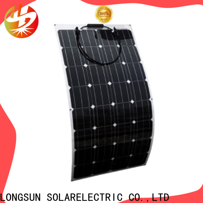 Longsun solar semi-flexible solar panel factory price for boats
