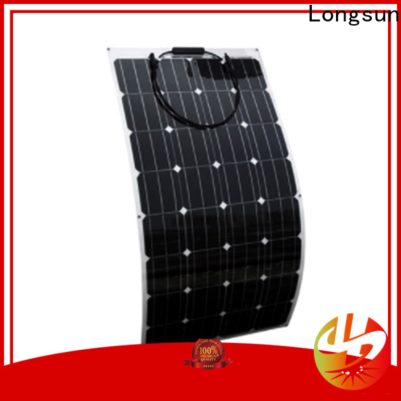 Longsun semi semi flexible solar panel vendor for roof of rv