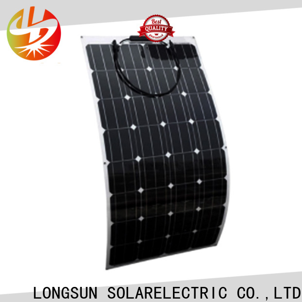Longsun widely used semi-flexible solar panel factory price for boats