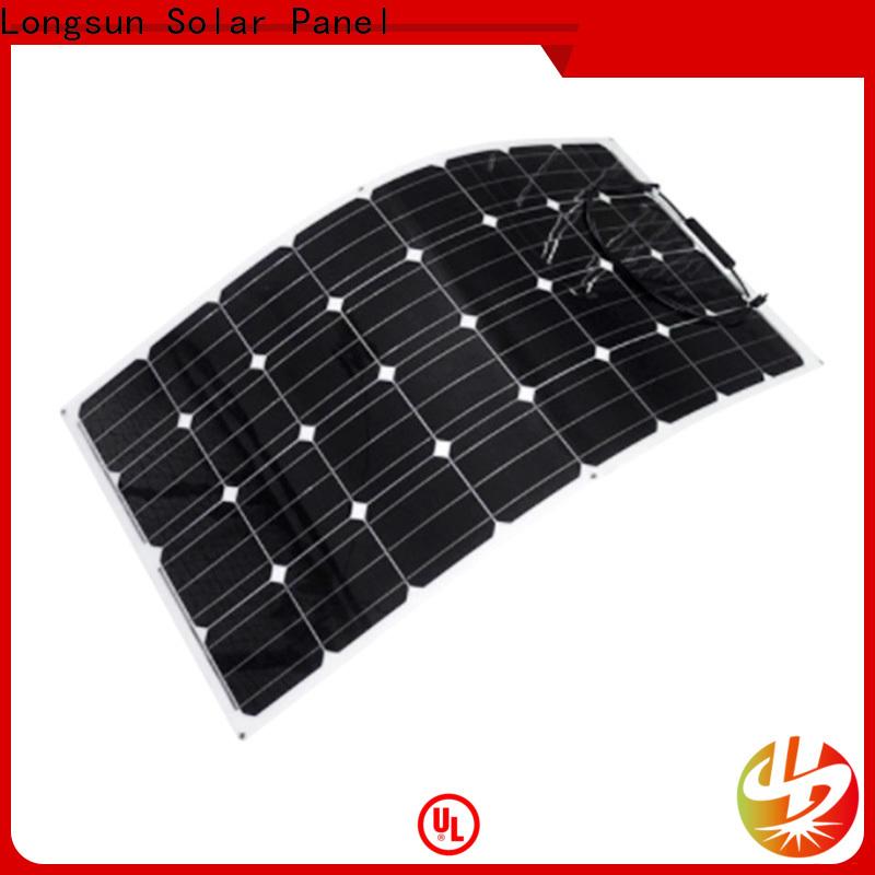 Longsun semi flexible solar panels vendor for yachts
