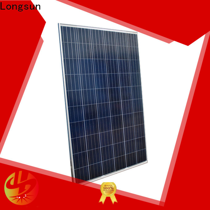 Longsun poly powerful solar panels vendor for powerless area