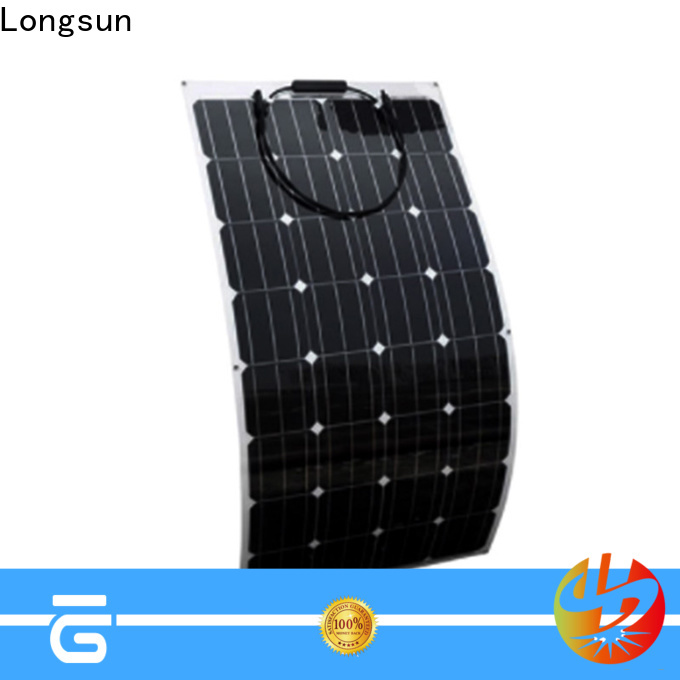 Longsun eco-friendly semi flexible solar panel dropshipping for roof of rv