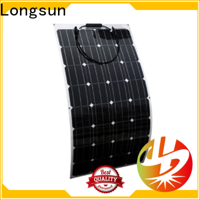 Longsun 60w semi-flexible solar panel marketing for yachts