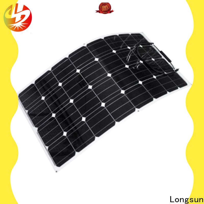 Longsun flexible semi flexible solar panel overseas market for boats