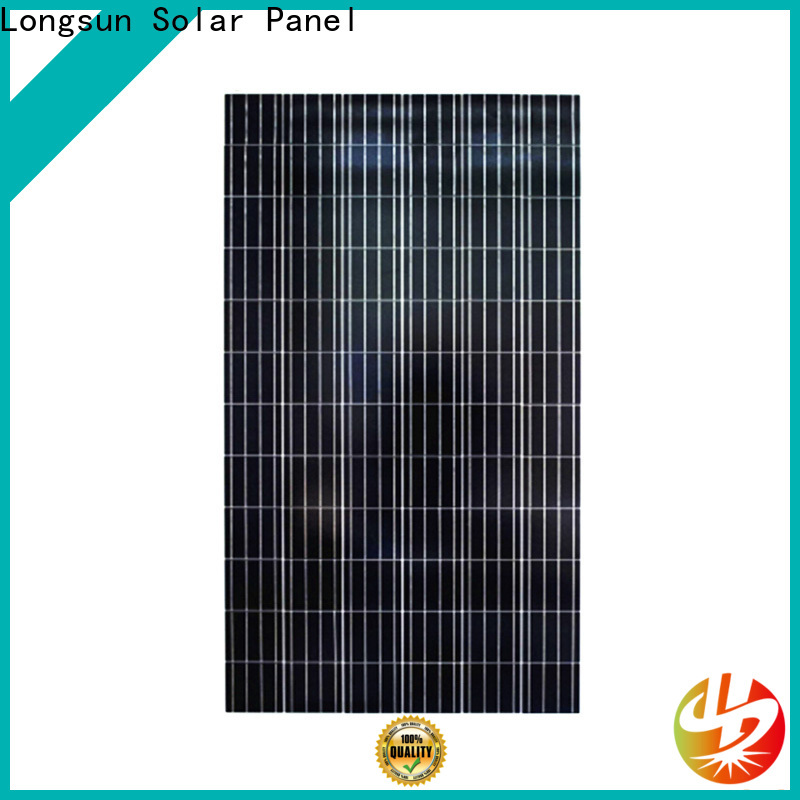 Longsun natural polycrystalline solar module directly sale for communications