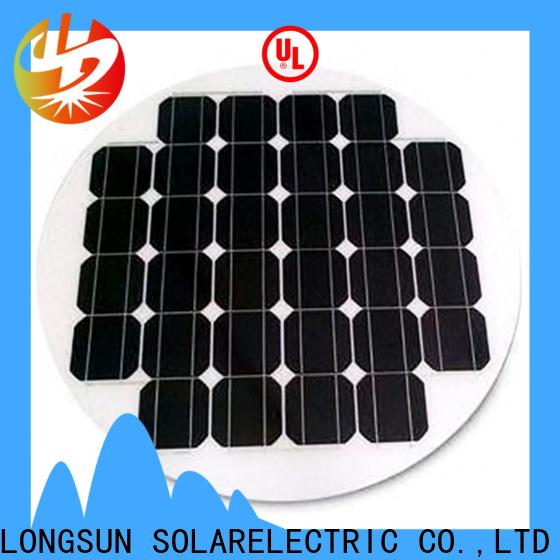 UV resistant circle solar panel solar wholesale for Solar lights
